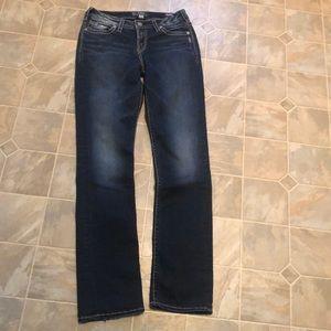 Silver Suki mid straight jeans tall